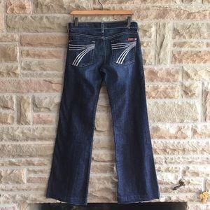 7FAM Dojo Jeans 7 For All Mankind Denim Sz 28